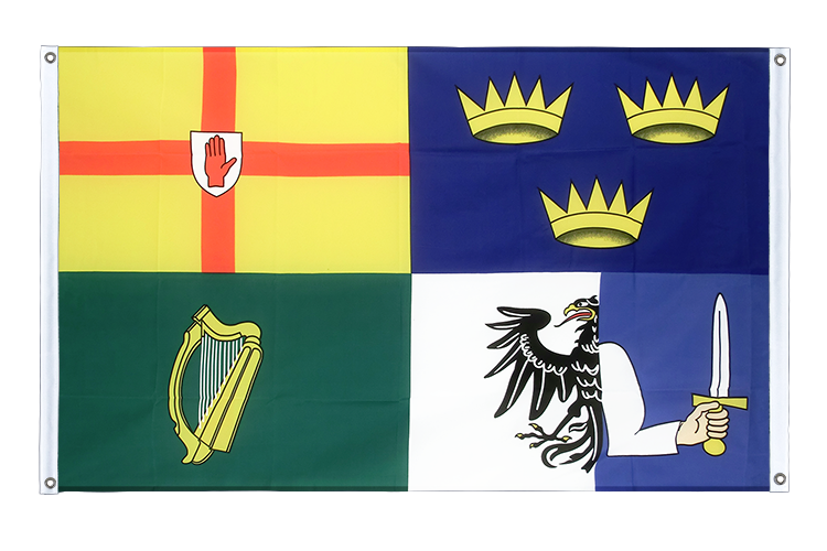 Banner Flag Ireland 4 provinces - 3x5 ft (90x150 cm), landscape