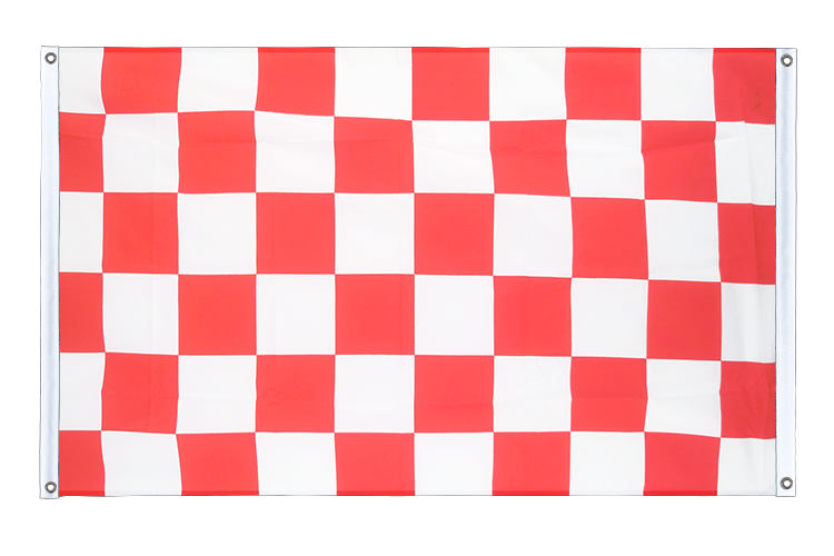 Banner Flag Checkered Red-White - 3x5 ft (90x150 cm), landscape