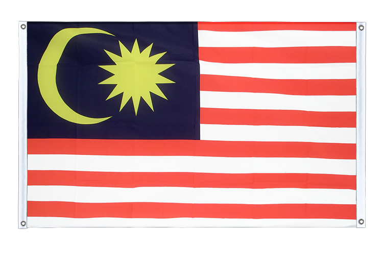 Banner Flag Malaysia - 3x5 ft (90x150 cm), landscape