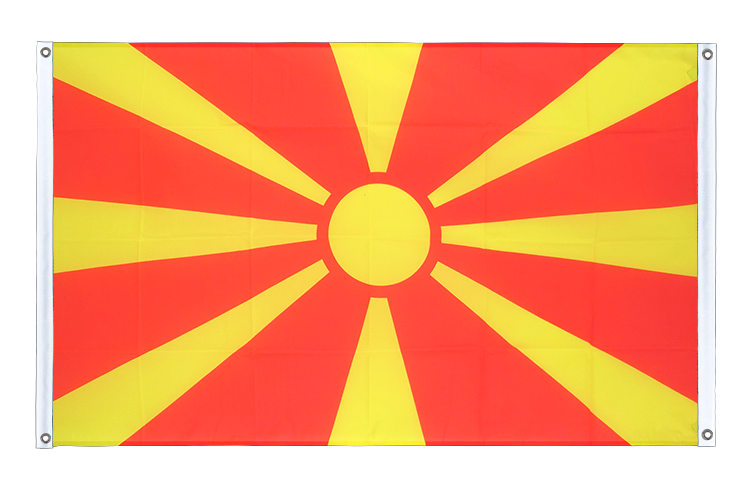 Banner Flag Macedonia - 3x5 ft (90x150 cm), landscape