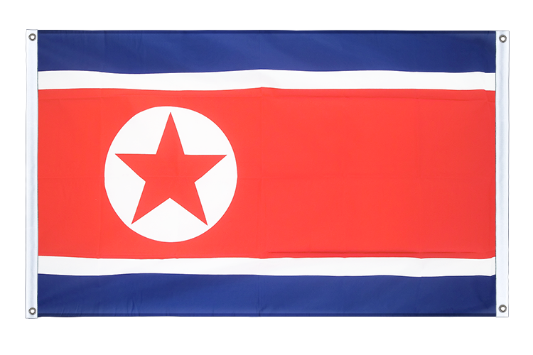 Banner Flag North corea - 3x5 ft (90x150 cm), landscape
