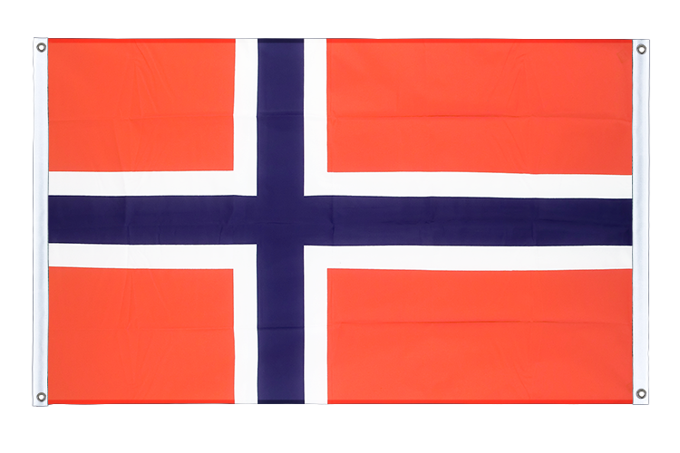 Banner Flag Norway - 3x5 ft (90x150 cm), landscape