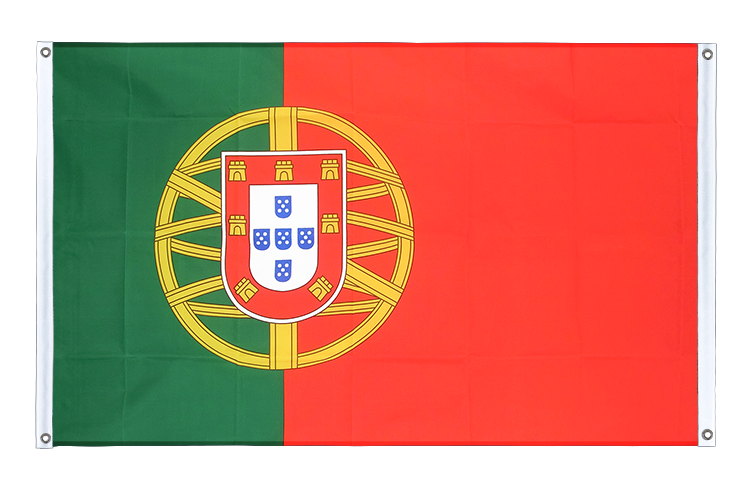 Banner Flag Portugal - 3x5 ft (90x150 cm), landscape