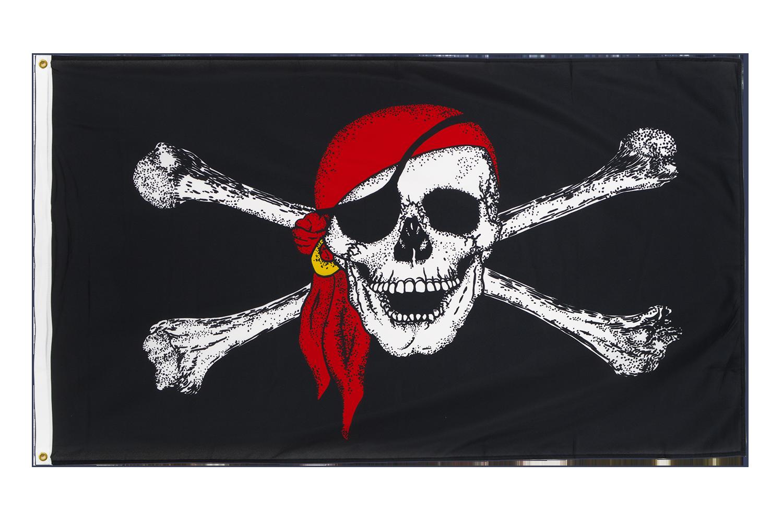 drapeau de qualit u00e9   pirate avec foulard
