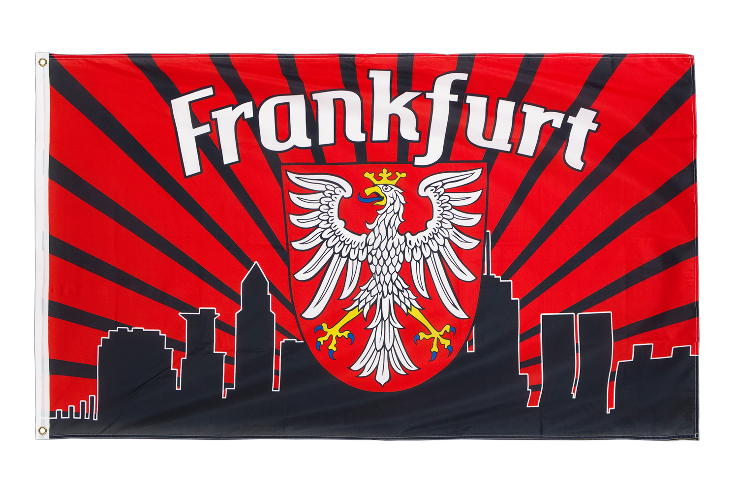 frankfurt skyline 3x5 ft flag 90x150 cm royal flags. Black Bedroom Furniture Sets. Home Design Ideas