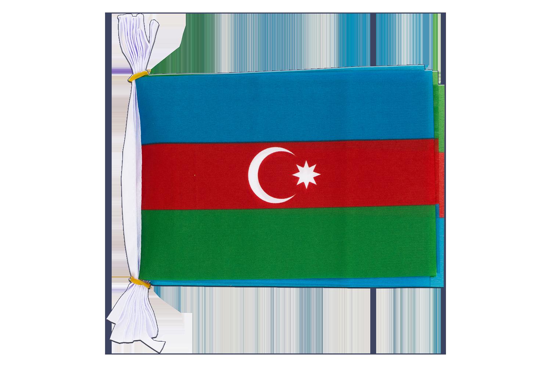 Stockflagge Aserbaidschan 30 x 45 cm Flagge Fahne