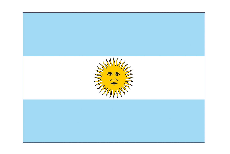 Argentina flag sticker 3x4 5 pcs