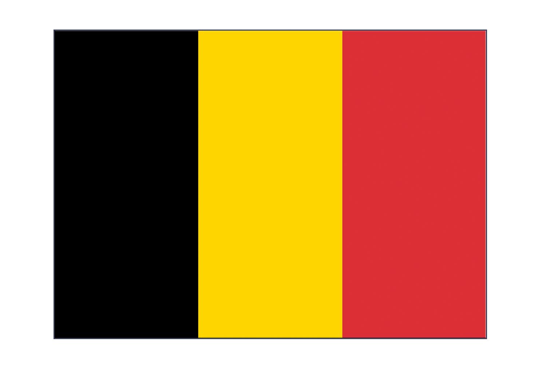 Autocollant drapeau Belgique - 7 x 10 cm, 5 pcs