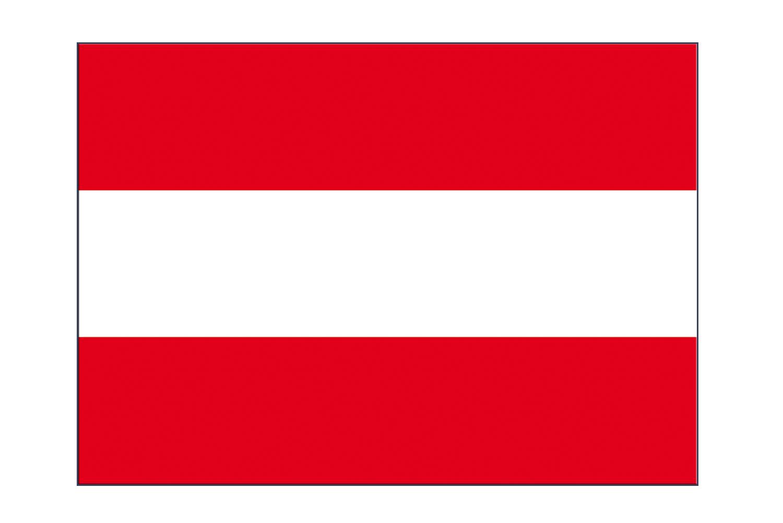 austria flag sticker 3x4 5 pcs