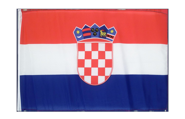 kleine kroatien flagge 30 x 45 cm flaggenplatz. Black Bedroom Furniture Sets. Home Design Ideas