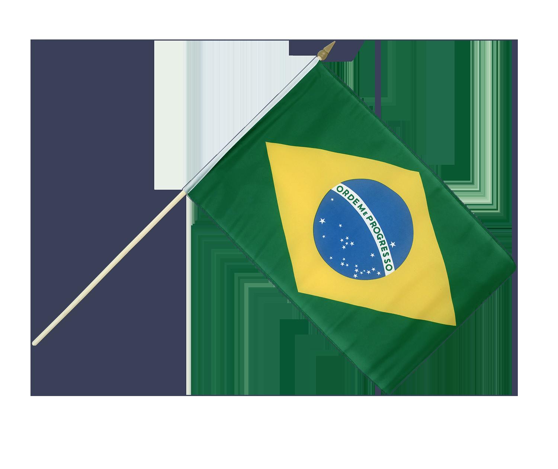 "Brazil Hand Flag - 12x18"" - Royal-Flags.co.uk"