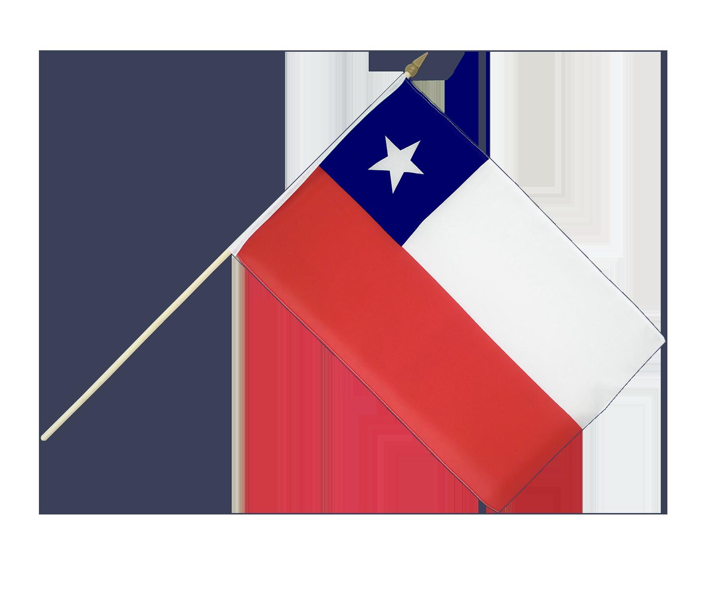 hand waving flag chile 12x18 royal flags