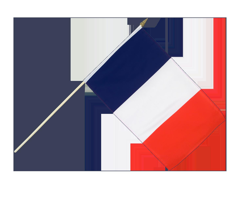 drapeau fran u00e7ais sur hampe - 30 x 45 cm