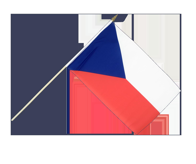 Hand Waving Flag Czech Republic