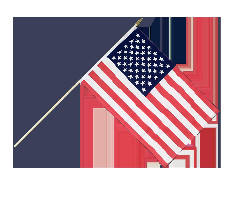 """American (USA) Hand Flag - 12x18"""" - Royal-Flags.co.uk"""