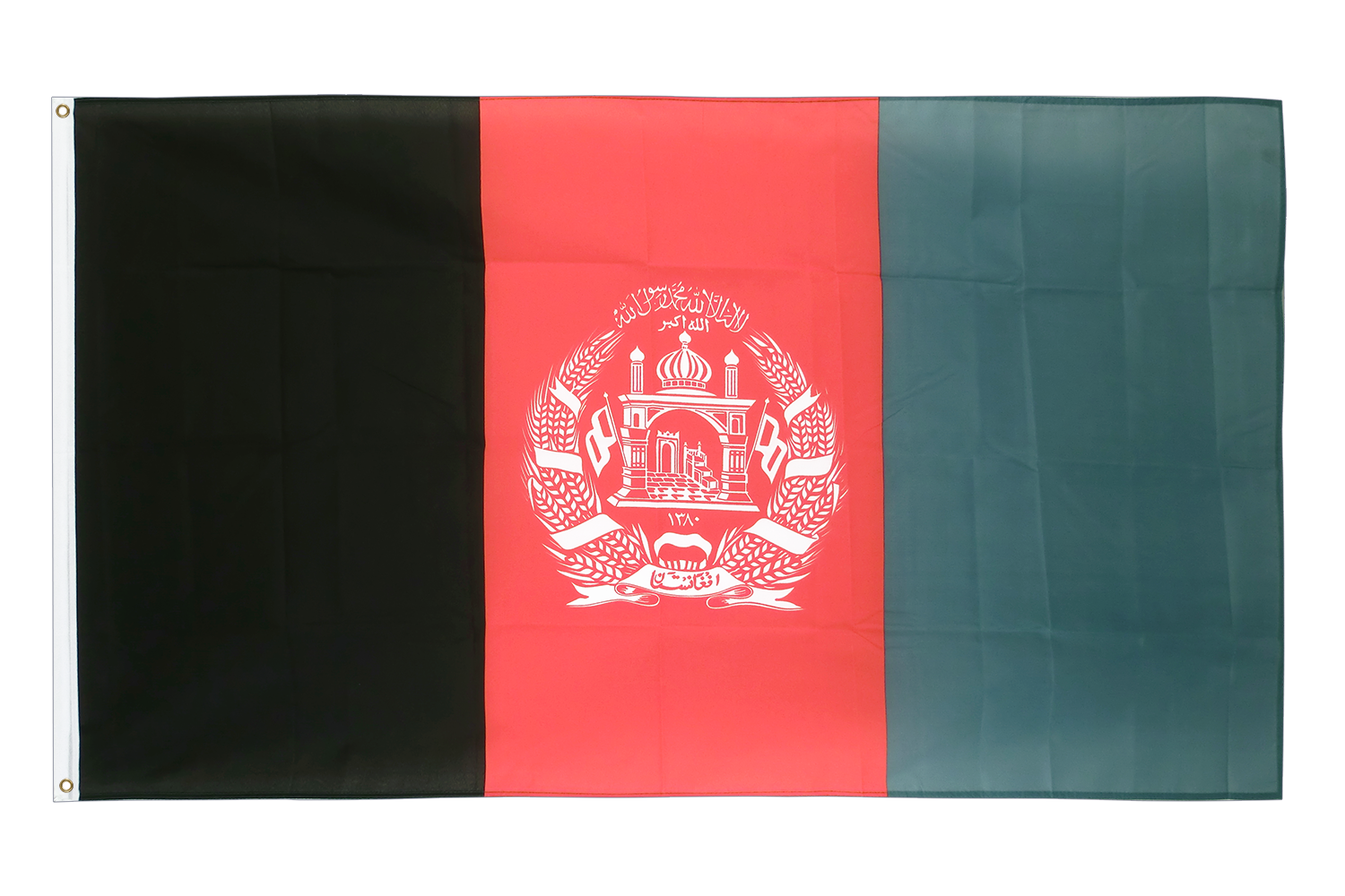 afghanistan flagge kaufen 90 x 150 cm flaggenplatz online shop. Black Bedroom Furniture Sets. Home Design Ideas