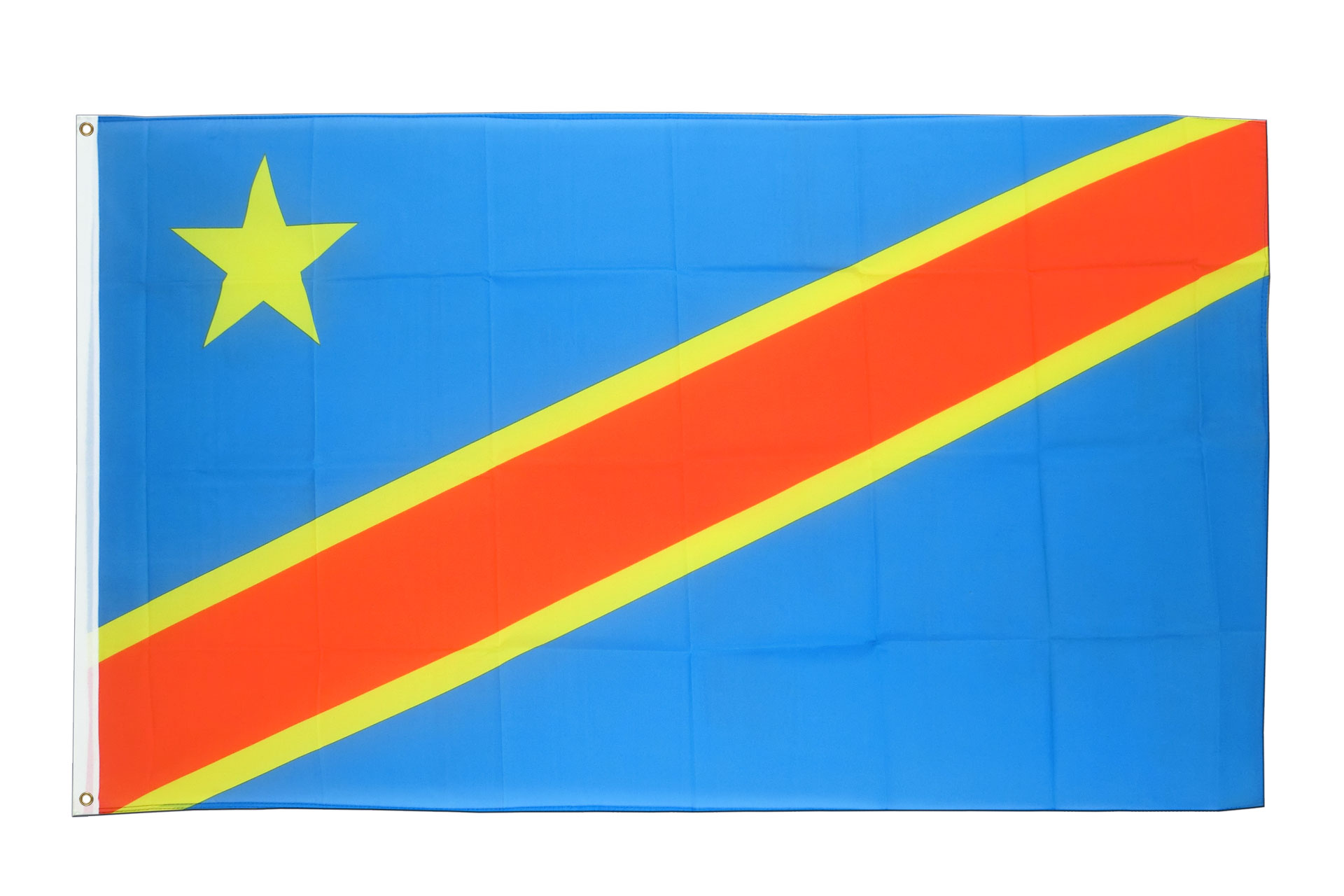 "REPUBLIC OF THE CONGO Handwaving Flag 9/"" x 6/"" Polyester Flag 12/"" Wooden Pole"