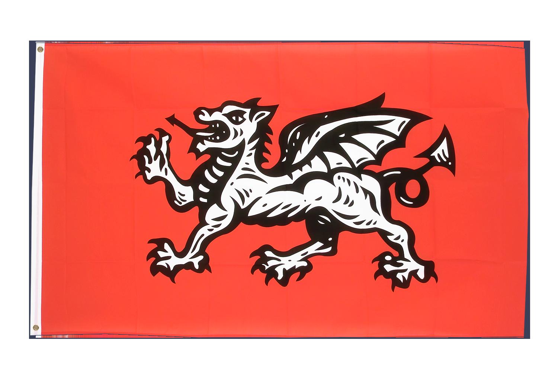 Drapeau angleterre avec dragon 90 x 150 cm - Drapeau de l angleterre a colorier ...
