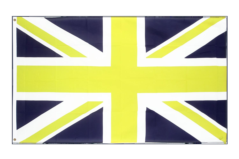 union jack blue yellow 3x5 ft flag 90x150 cm royal flags. Black Bedroom Furniture Sets. Home Design Ideas