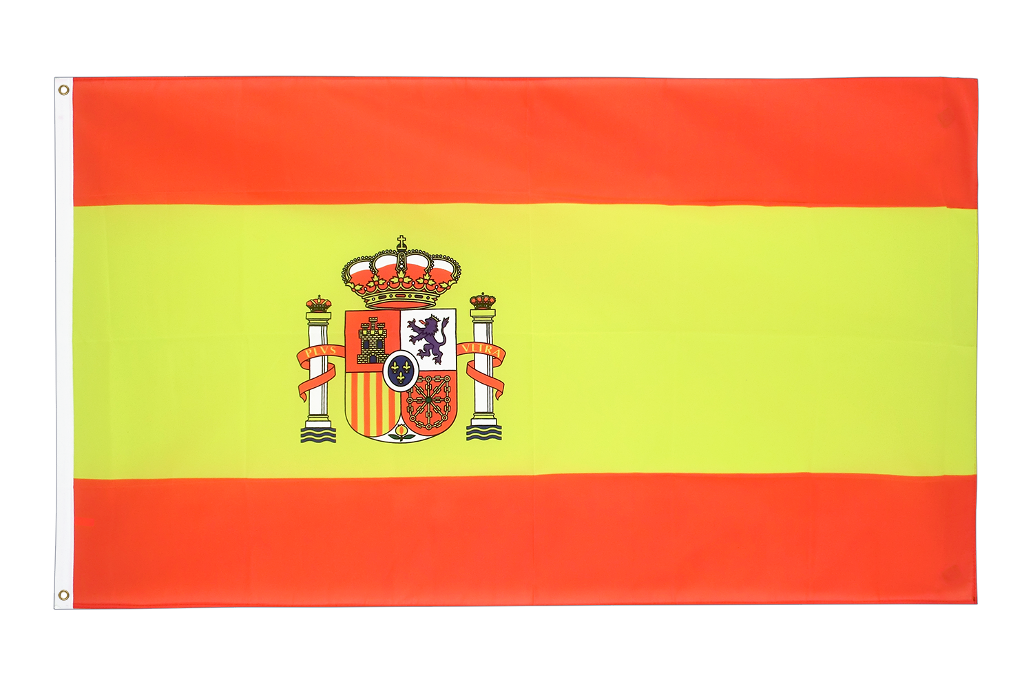 spanien mit wappen fahne online kaufen flagge 90 x 150 cm. Black Bedroom Furniture Sets. Home Design Ideas