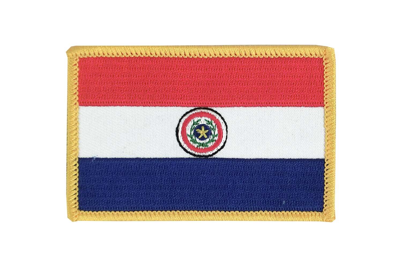 Paraguay Aufnäher Aufbügler Patch Schrift Flagge