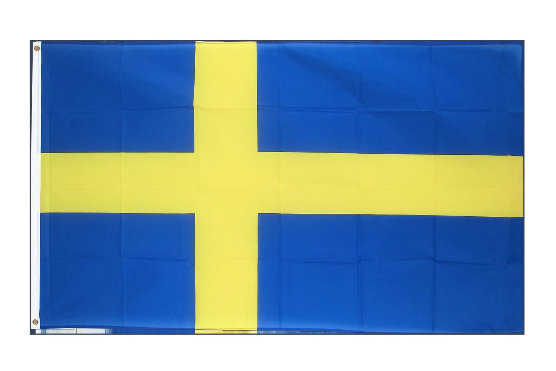 gro e flagge schweden 150 x 250 cm flaggenplatz online shop. Black Bedroom Furniture Sets. Home Design Ideas
