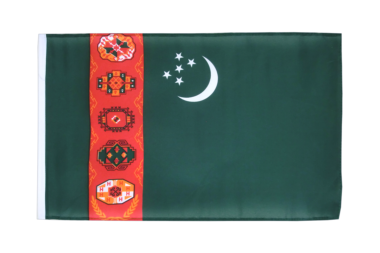 kleine turkmenistan flagge 30 x 45 cm flaggenplatz. Black Bedroom Furniture Sets. Home Design Ideas