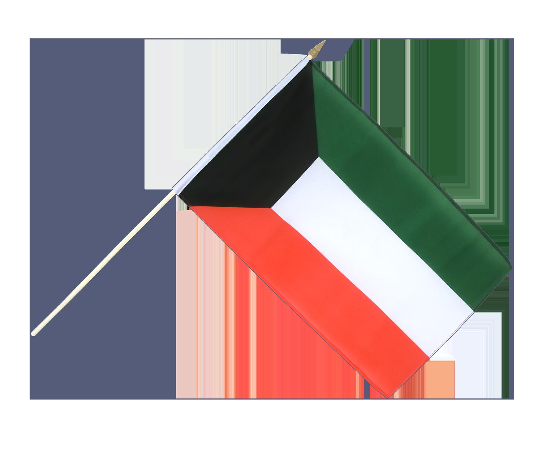 kuwait stockfahne stockflagge 30 x 45 cm flaggenplatz shop. Black Bedroom Furniture Sets. Home Design Ideas