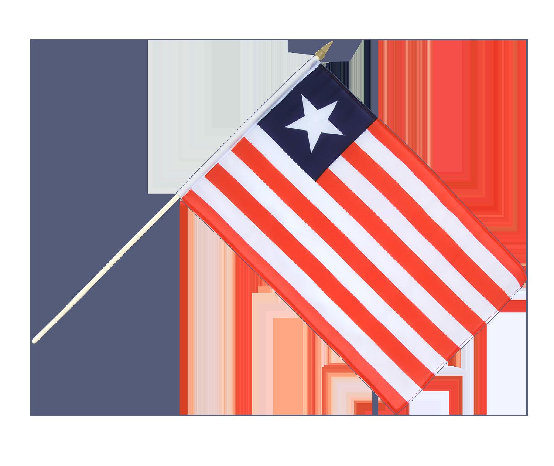 Liberia - Hand Waving Flag 12x18
