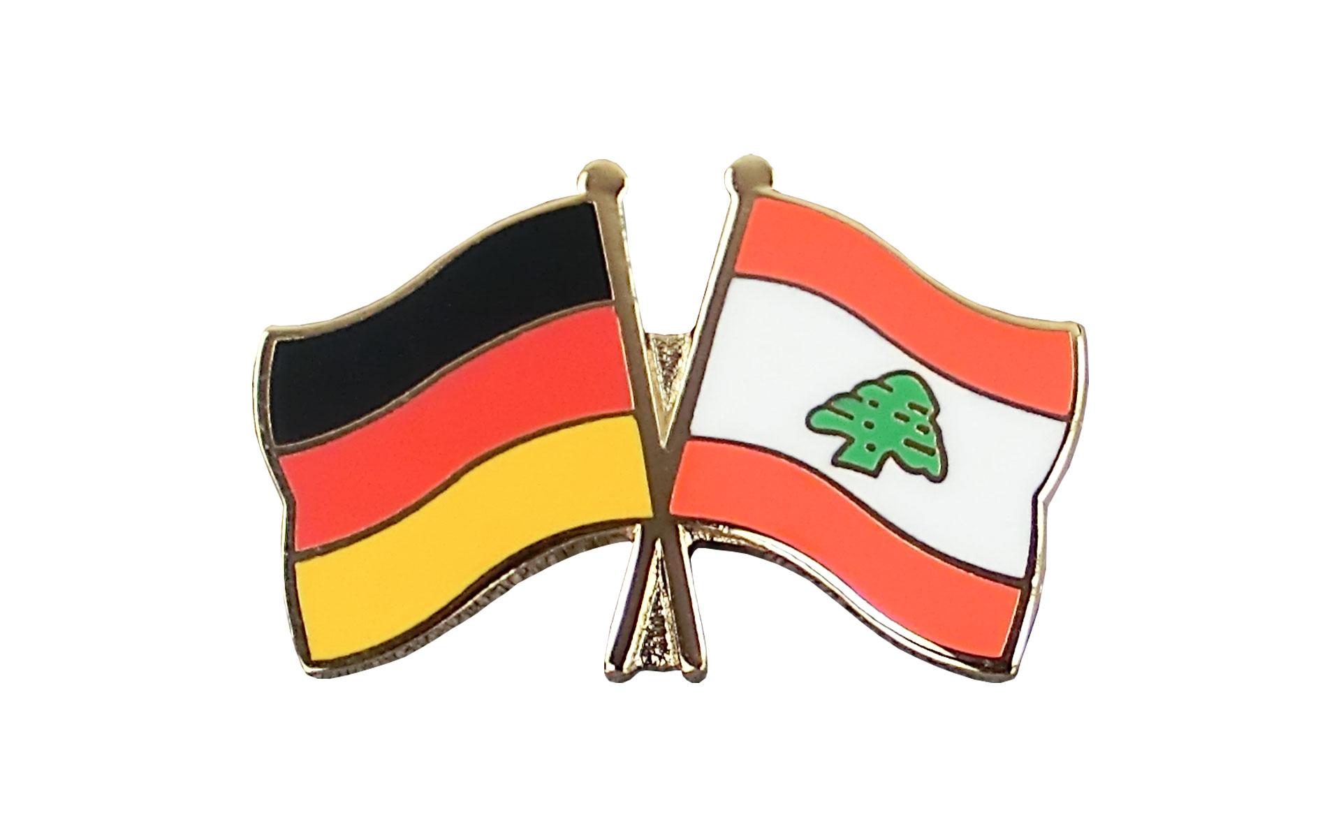 Freundschaftspin Libanon Pin NEU Fahne Flagge
