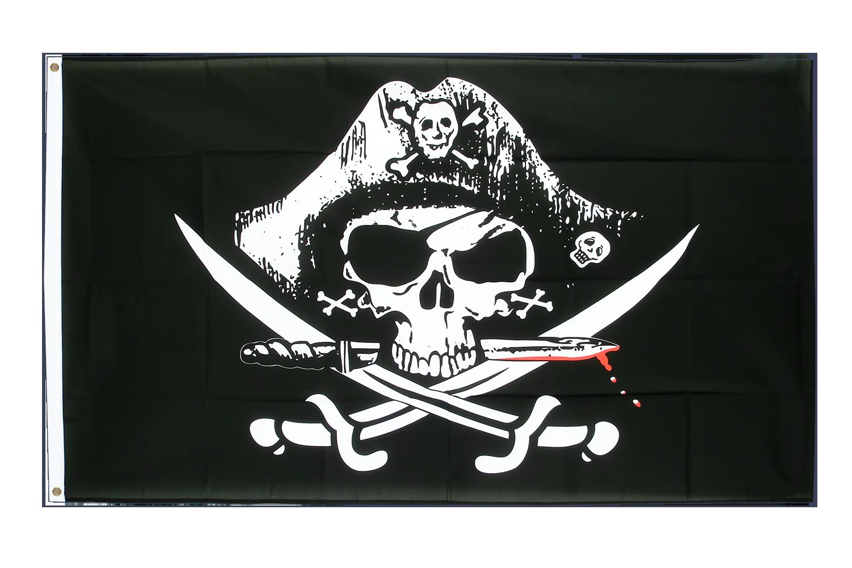 Drapeau pas cher pirate avec sabre sanglant 60 x 90 cm for Drapeau publicitaire exterieur pas cher