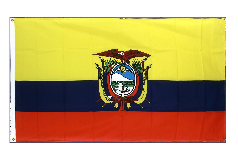 drapeau de qualit u00e9    u00c9quateur - 90 x 150 cm cv