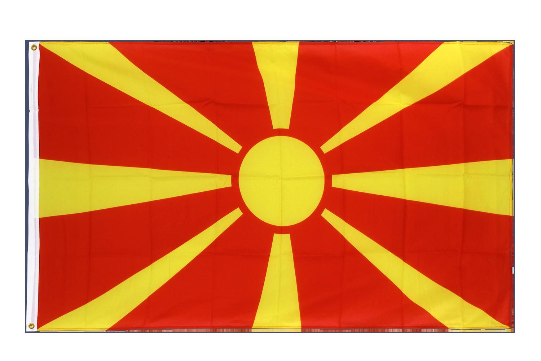 drapeau de qualit u00e9   mac u00e9doine - 90 x 150 cm cv