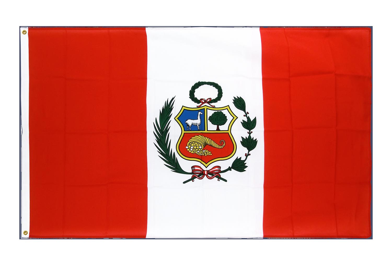 drapeau de qualit u00e9   p u00e9rou - 90 x 150 cm cv