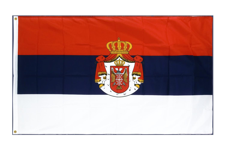 drapeau de qualit u00e9   serbie avec blason