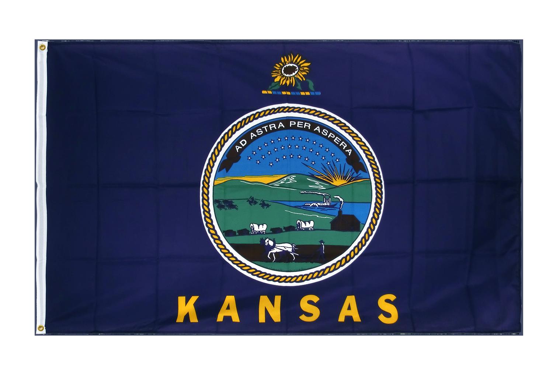 drapeau de qualit u00e9   kansas - 90 x 150 cm cv