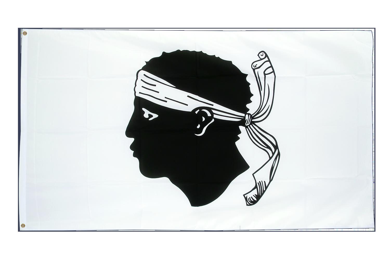 Drapeau pas cher corse 60 x 90 cm monsieur des drapeaux for Drapeau publicitaire exterieur pas cher