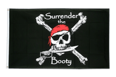 Pirate Surrender the Booty Flag - 3x5 ft