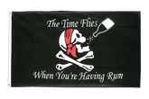 Pirate The Time Flies When You Are Having Fun Flag - 3x5 ft