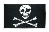 Cheap Pirate Skull and Bones Flag - 2x3 ft