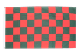 Checkered Red-Green Flag - 3x5 ft