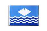 Satin Flagge Isle of Wight - 15 x 22 cm