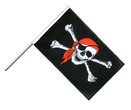 Pirate with bandana Hand Waver Flag ECO - 2x3 ft