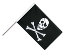 Pirate Skull and Bones Hand Waver Flag ECO - 2x3 ft