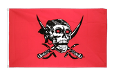 Drapeau Pirate rouge - 60 x 90 cm