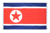 North corea Grommet Banner Flag - 3x5 ft, landscape