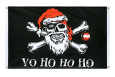 Pirate Christmas Grommet Banner Flag - 3x5 ft, landscape