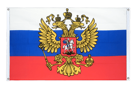 Russia with crest - Banner Flag 3x5 ft, landscape