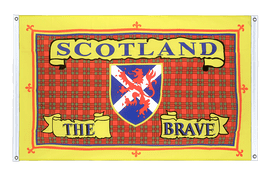 Scotland the Brave - Banner Flag 3x5 ft, landscape