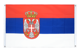 Serbia with crest - Banner Flag 3x5 ft, landscape